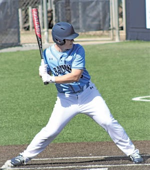 Harrison Clark drove in a run for Bartlesville High during Monday's close baseball loss at Oologah High.