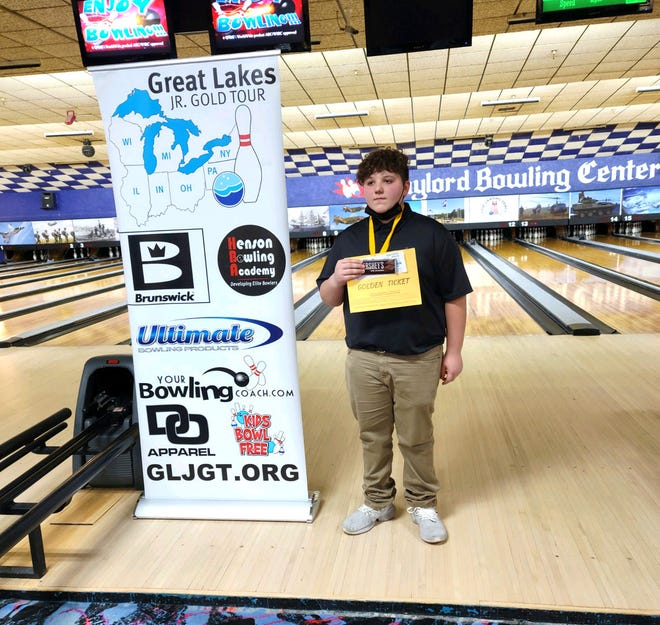 Cheboygan 12-year-old bowler Ryker Woiderski took first place in the 12-Under Division at the Great Lakes Junior Gold Tour event held at Gaylord Bowling Center on Saturday, April 18. On Saturday, April 24, Woiderski bowled his first-ever 300 game at Spare Time Lanes in Cheboygan.