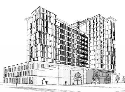 Developers are proposing a 15-story tower on West Broad and South Gift streets in Franklinton.