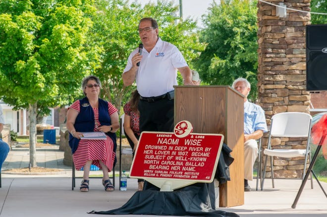 During a 2019 unveiling ceremony for a historic marker, residents shared the history of Naomi Wise, a murder tale well-known by locals and immortalized in a traditional American folk ballad.