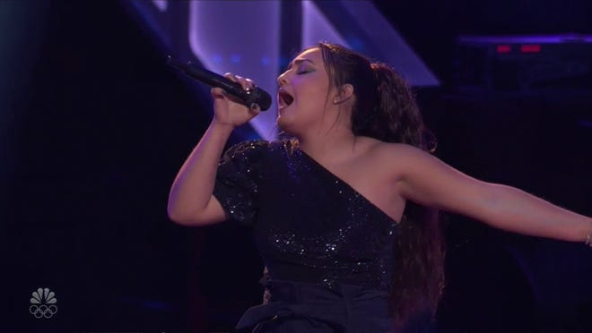 """Rio Doyle, 16, of Adrian sings during Monday's episode of """"The Voice."""" Doyle was bested in the knockout round."""