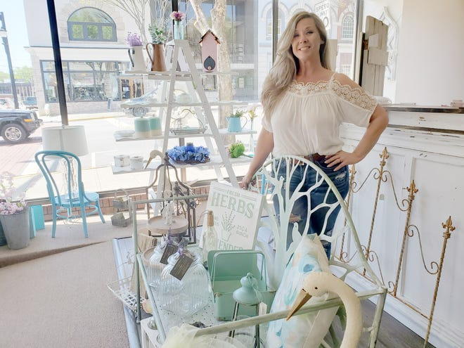 Martie Beasley and her husband, Robbie, are the new owners of River House Emporium on Main Street in Lexington. Much about the store that specializes in farmhouse decor, antiques and reproductions, will stay the same, but the Beasley's plan to add some personal touches.