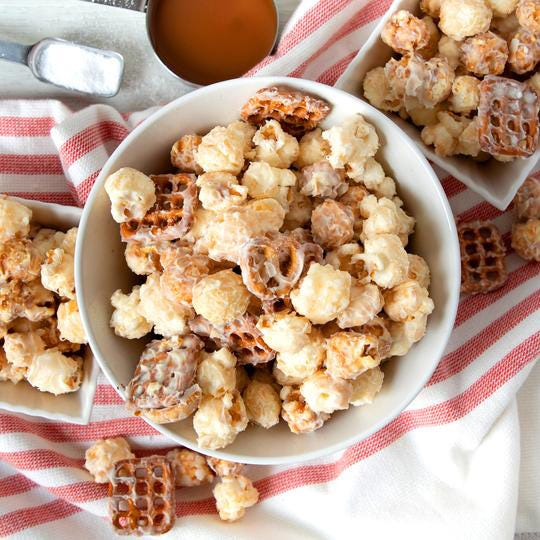Sea salt caramel is one of five flavors offered by Piedmont Candy Co. with its new Thinful low-sugar snack mix.