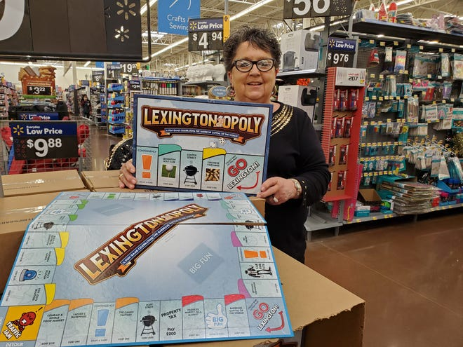 Penny Hanes Canady spotted the localized Monopoly game called Lexingtonopoly at the Walmart Supercenter and purchased one. She collects unique, modified Monopoly games and even has another Lexington version of the board game that a Davidson County school or civic group created years ago for a fundraiser, she said.