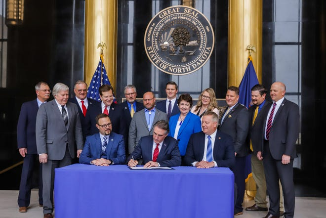 """Gov. Doug Burgum today signed a proclamation designating North Dakota as a """"Second Amendment Sanctuary State,"""" reinforcing the state's support for the constitutional right to keep and bear arms."""