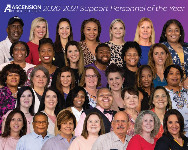Ascension Parish Schools support personnel of the year.