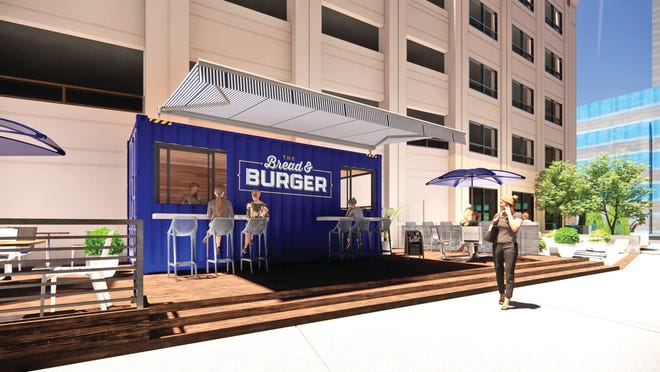 Bread & Burger, a new restaurant from the owners of The Bread & Board, is planned for the VyStar Credit Union campus breezeway project that runs from 100 West Bay St. through to Independent Drive.