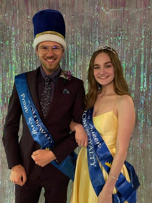 Pictured is Everett Thuline and Katie  Kocan who were crown King and Queen of Galva's Prom Saturday night at the River Experience in Davenport. Everett is the son of  Tim and Julie  Thuline  of rural Galva and Katie  is the daughter of Chris  and Molly Kocan of Galva.