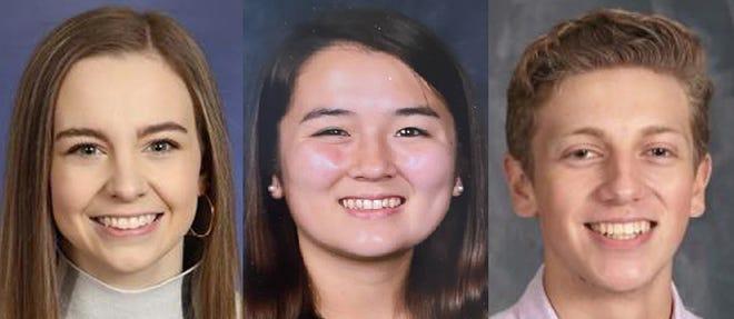 Rebecca Parke Chapter DAR announces, from left,Alexandrea Day, Hannah Edwards andRafael Estrada as DAR Good Citizen award winners for 2020-21.