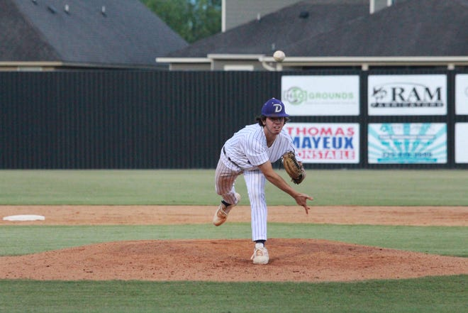 Dutchtown pitcher Will Dotter came in and closed the game for the Griffins, leading them to a 6-5 first-round win over Covington.