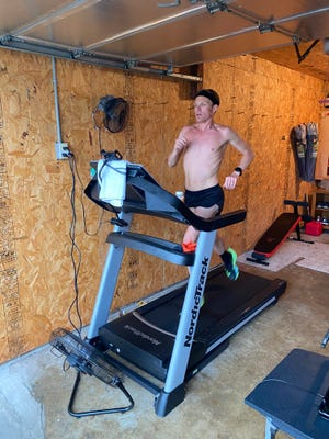 Taggart VanEtten will attempt to break the world record for fastest 100 miles on a treadmill in an event Saturday, May 1, 2021 at Seasons Gastropub in Morton.