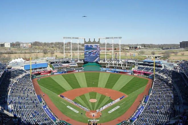 Shown is Kauffman Stadium in Kansas City, Missouri.