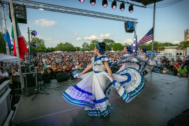 Dancers perform at the 2019 OKC Cinco de Mayo Festival in Wiley Post Park. After the event was canceled in 2020 due to the COVID-19 pandemic, this year's festival is moving downtown to Scissortail Park on May 2.
