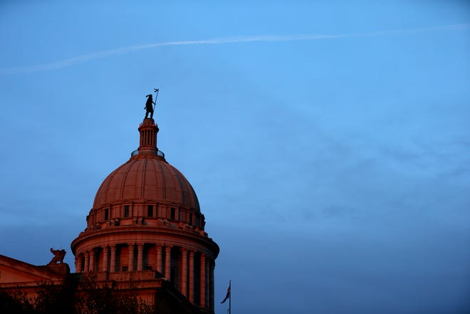 The Oklahoma state Capitol in Oklahoma City, Friday, April 5, 2013.