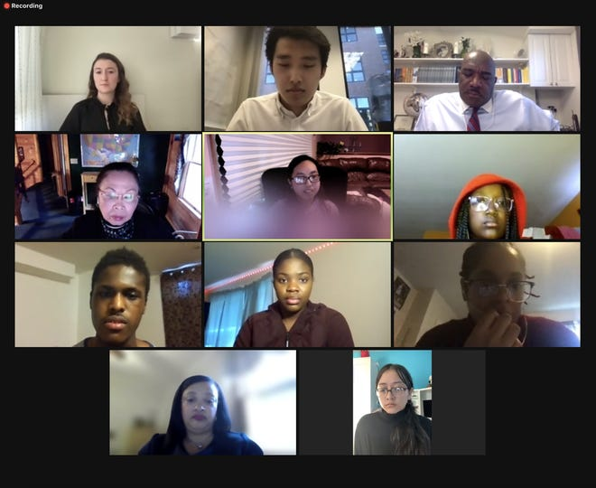 """Screenshot from the virtual forum, """"Breaking the Silence on all Racism,"""" hosted by Quincy Asian Resources Inc."""