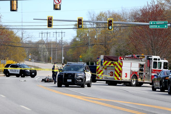 Local authorities responded to a fatal crash involving a tractor trailer and a motorcyclist on Route 33 in Portsmouth Tuesday, according to police.