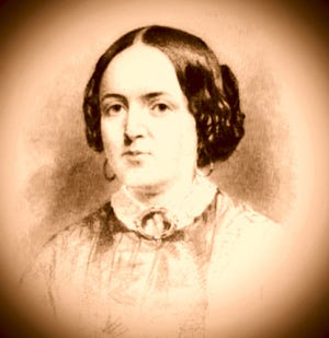 A portrait of Caroline Elizabeth Jenness, who lived and died in the Treadwell-Jenness house at 93 Pleasant St., in Portsmouth. The portrait appears in an 1858 memoir of Caroline's life and writing by her brother, Seacoast historian John Scribner Jenness.