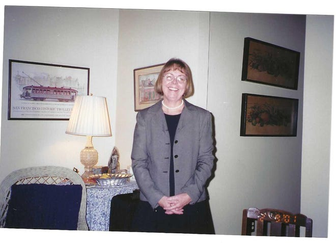 Claudine Griggs in February 2001 at the wedding of her wife's son in New Orleans.