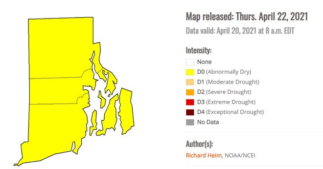 """Rhode Island is """"abnormally dry,"""" according to the U.S. Drought Monitor."""