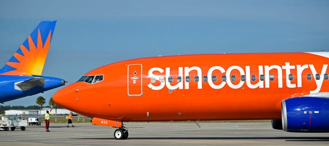 The inaugural flight of Sun Country Airlines arrives in December 2019 at Sarasota-Bradenton International Airport. The airline will begin serving Punta Gorda Airport in December.