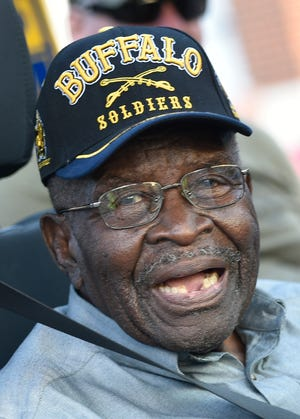 The DeSoto Heritage Festival Grand Parade also recognized some of Manatee's hometown heroes, including U.S. Army  World War II Buffalo Soldier Cpl. Steve Lewis at 99 years of age on  April 24, 2021, in Bradenton.