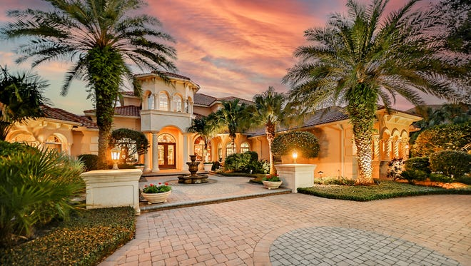This Spanish Mediterranean 6,500-square-foot, multi-story home at 8263 Archers Court is tastefully sited on a generous lot in gated Founders Golf Club in Sarasota. It is on the market for $3.7 million.