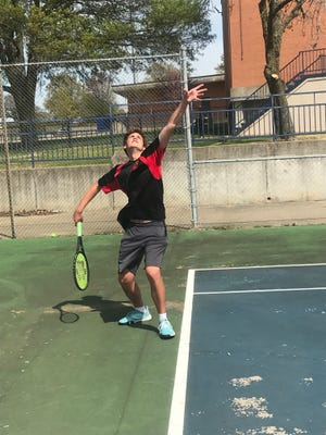 Rossville's Alex Sherer won singles titles at the Topeka West Invitational and Wichita Collegiate Tournament of Champions last week, improving to 26-1 on the season.