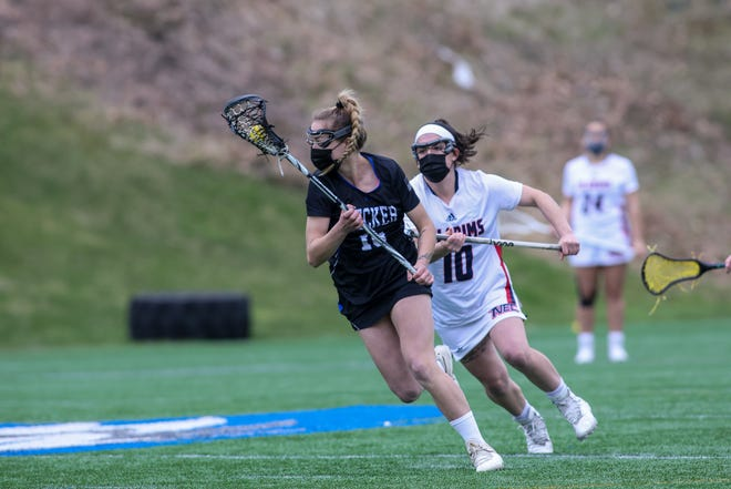 Becker junior Kylian Kelly of Shrewsbury was named the New England Collegiate Conference Defensive Player of the Week for the fourth time in six weeks.