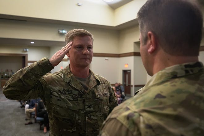 Brig. Gen. Steven Marks, seen as a colonel in January 2020, has been selected as the new deputy commander for the U.S. Army Special Operations Command.