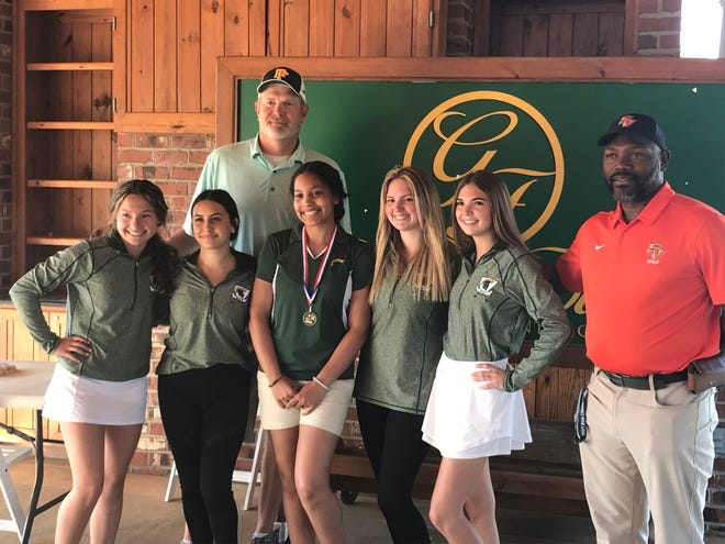 The Pine Forest girls' golf team won the Patriot 4-A/3-A Conference Championship on Monday at Gates Four Golf and Country Club.