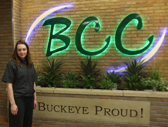 Cheyenne Peterman, a graduating Buckeye Career Center senior from Tuscarawas, has enlisted in the U.S. Army Reserves. (TimesReporter.com / Jim Cummings)