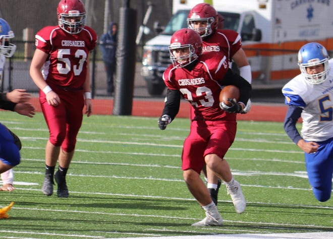 Dom Macrina rushed for two touchdowns in the win.