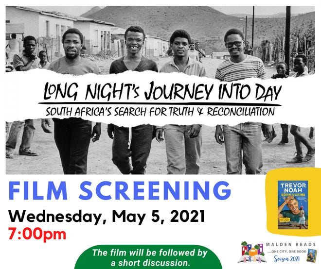 """Residents are invited to a virtual screening via Zoom of """"Long Night's Journey Into Day,"""" at 7 p.m. May 5."""
