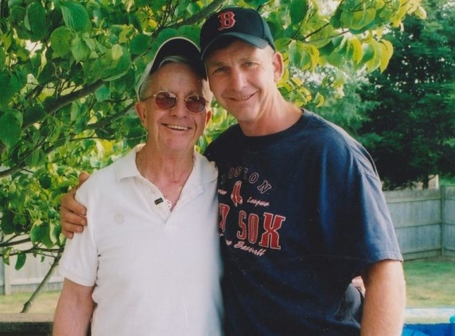 Paul Sullivan (right) organizes Sully's Buddies team in memeory of his dad, Frank. The bike riders will participate in the annual Ride to End ALZ MA/NH in June.
