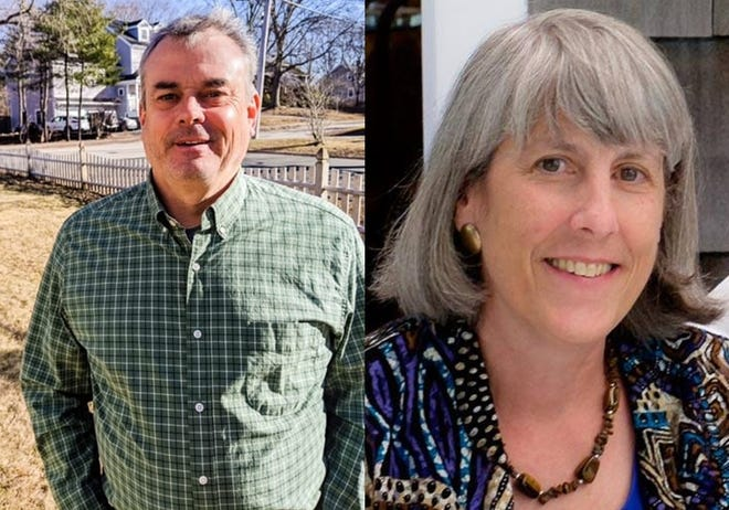 John Stoddard and Laura Burns will be running against each other for the open seat on the Hingham Municipal Light Board.