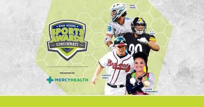 Chipper Jones, T.J. Watt, Laurie Hernandez, Paul Rabil, join the growing list of legendary athletes presenting at the Cincinnati High School Sports Awards.