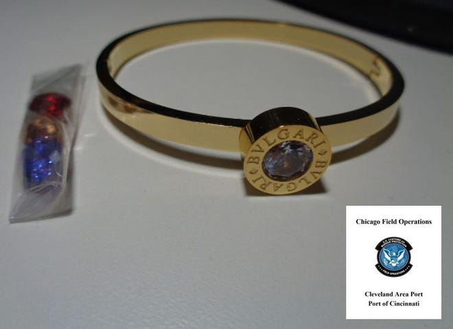 U.S. Customs and Border Protection officers in Cincinnati recently seized nearly 9,400 pieces of fake jewelry that came from China and was headed to Texas.