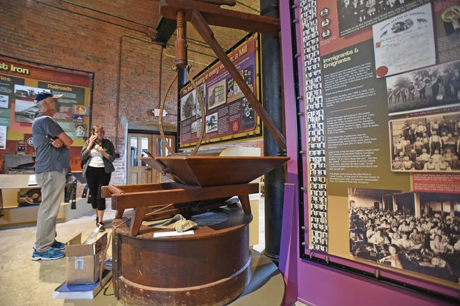Don and Linda Wilkins of Westerville tour the North Central Ohio Industrial Museum on Tuesday.
