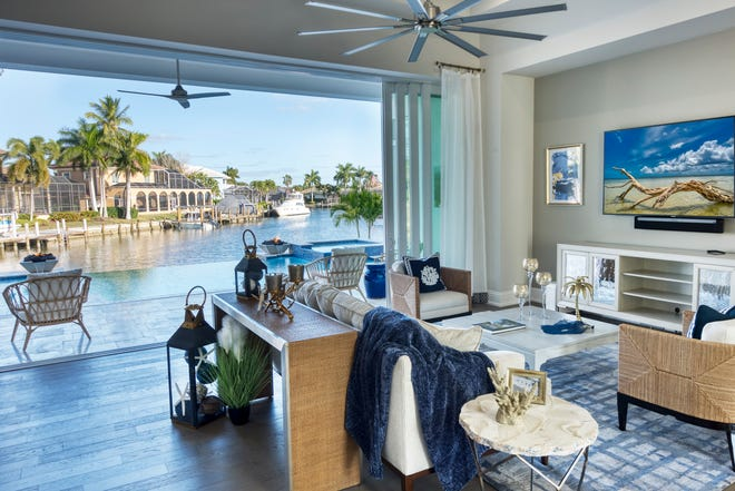The beautiful Cayman model, located on a waterfront homesite on Marco Island, is one of the homes Divco sold during its record-breaking first quarter.