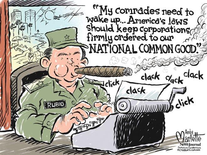 Marlette cartoon: Marco Rubio embraces Cuban economic philosophies...