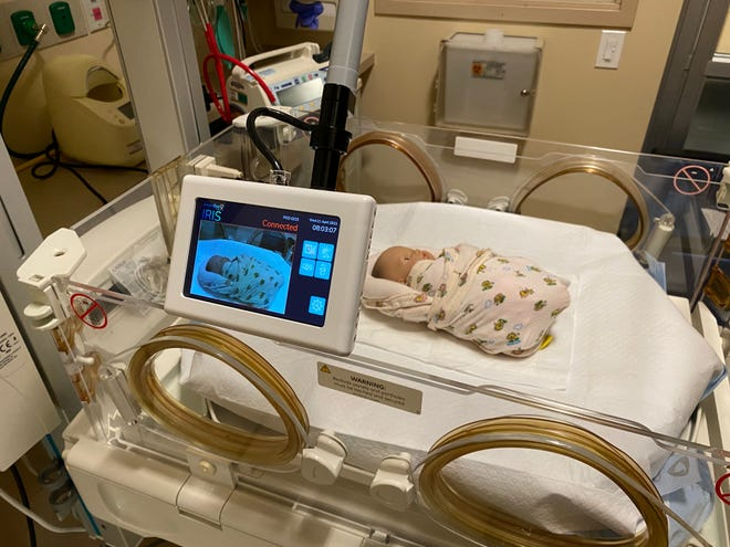 An Angel Eye camera monitor at HonorHealth Shea.