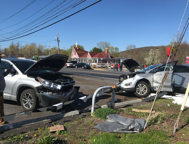 A serious 3 vehicle accident forced the closure of Route 22 in the area of the Red Rooster in Brewster for several hours Monday evening April 26, 2021.