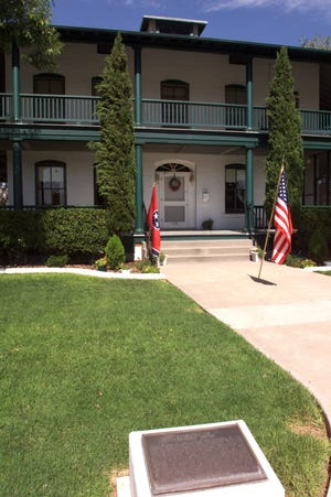 """The Pershing House at Fort Bliss is named after General John """"Blackjack"""" Pershing."""