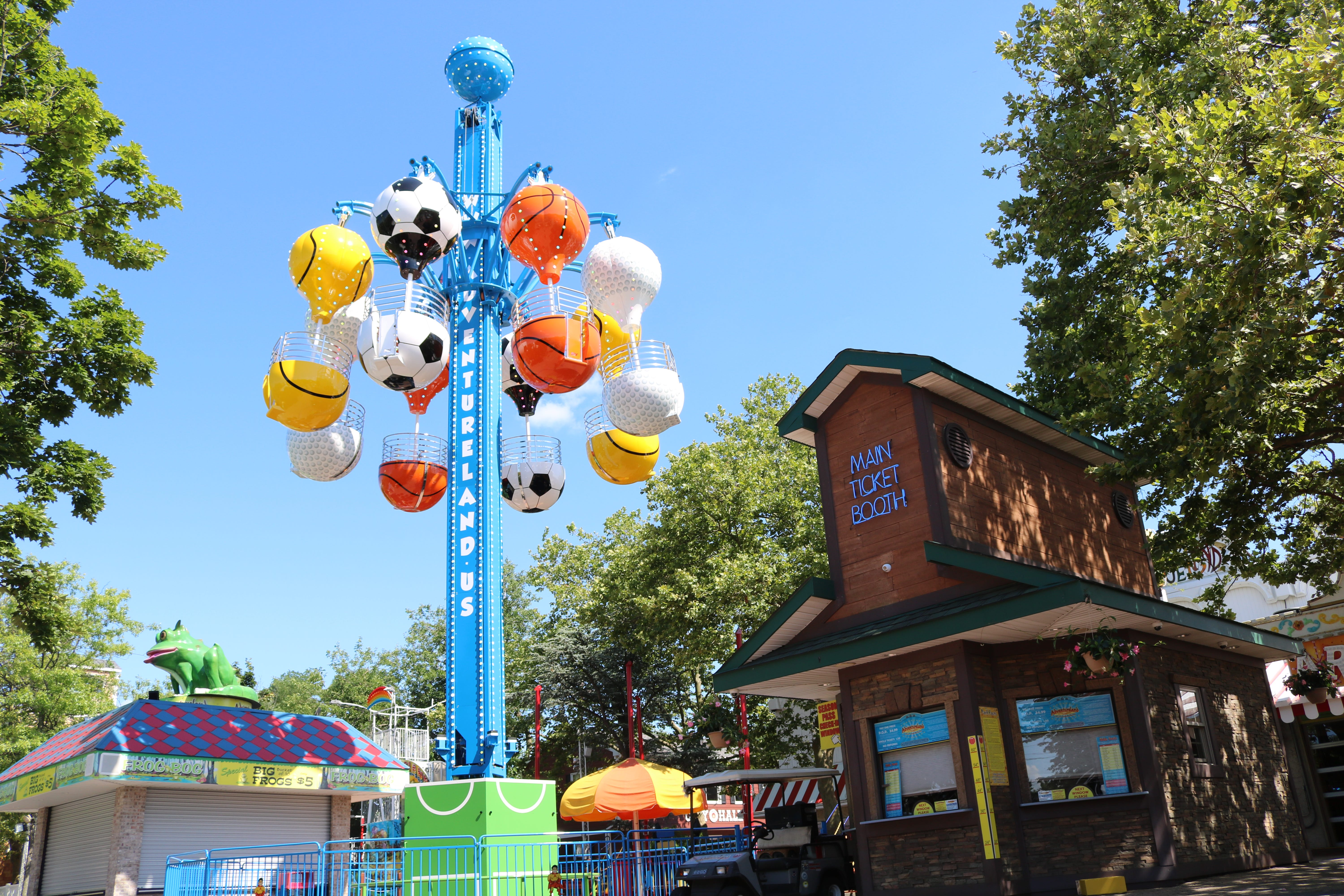 The Sports Tower is a new family ride at Adventureland.