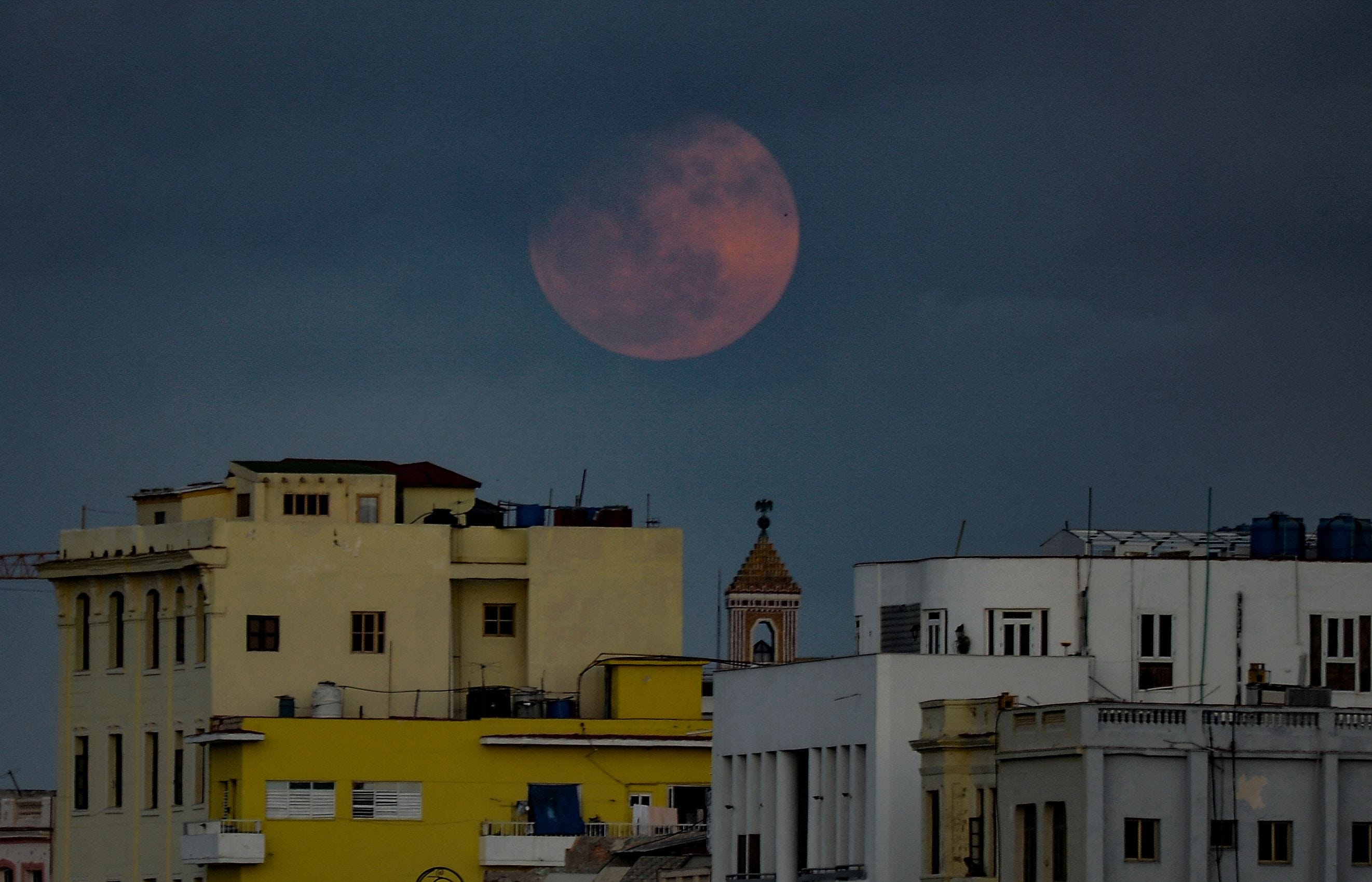 Photos: April s pink moon seen around the world