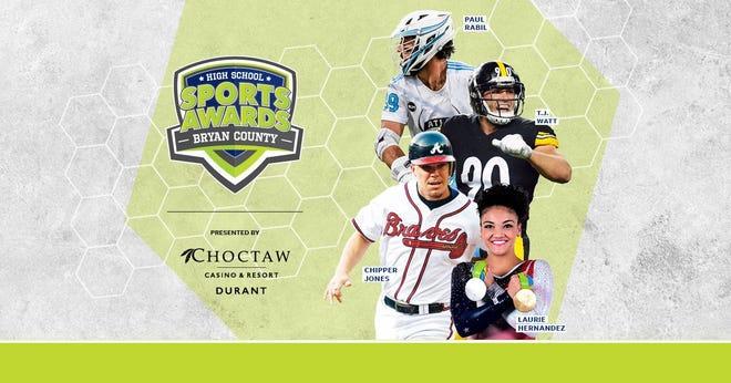 Chipper Jones, T.J. Watt, Laurie Hernandez, Paul Rabil, join the growing list of legendary athletes presenting at the Bryan County High School Sports Awards.