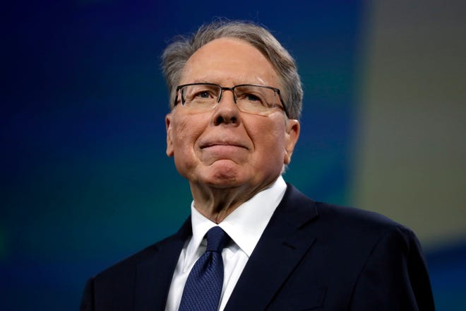 On April 26, 2019, NRA's Executive Vice President and CEO, Wayne Lapier, attends the annual conference of the National Rifle Association in Indianapolis.