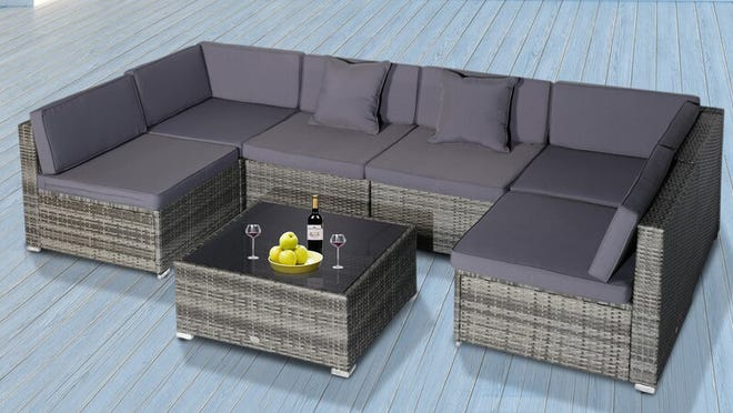 This Sol 72 Outdoor furniture set is spacious and comfortable for big crowds in the backyard.