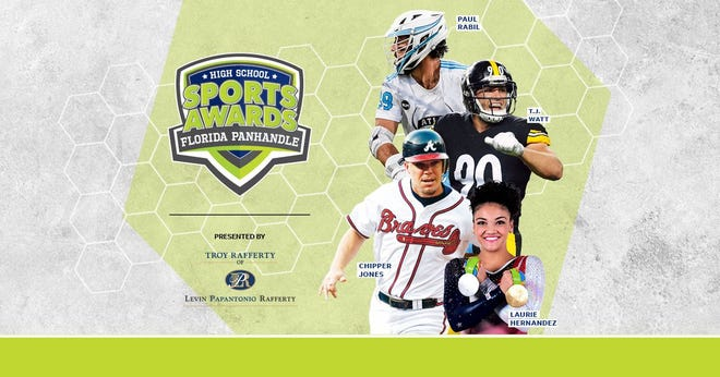 Chipper Jones, T.J. Watt, Laurie Hernandez, Paul Rabil, join the growing list of legendary athletes presenting at the Florida Panhandle High School Sports Awards.