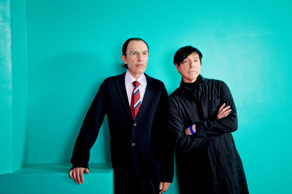 """Edgar Wright's documentary """"The Sparks Brothers"""" focuses on the eccentric California-bred brothers of the band Sparks - Ron Mael (left) and Russell Mael - and their continually evolving music over the past 50-plus years."""